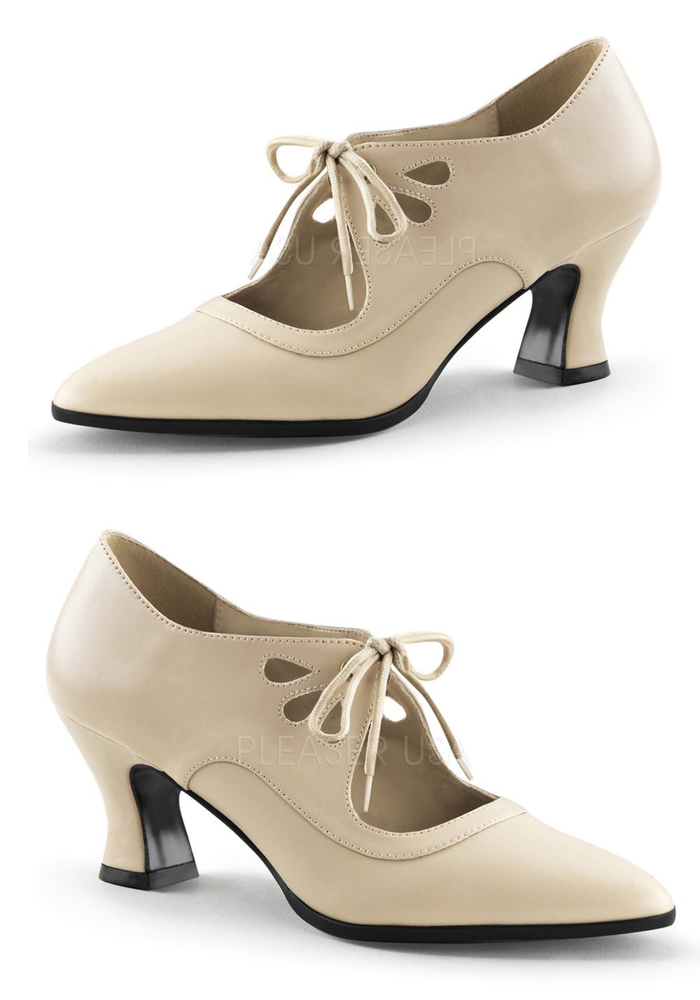 Cream Vintage Style Shoes
