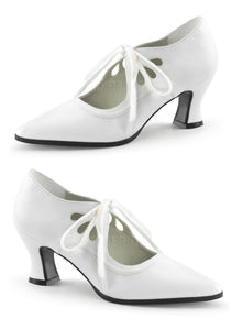 White Peek A Boo Shoes