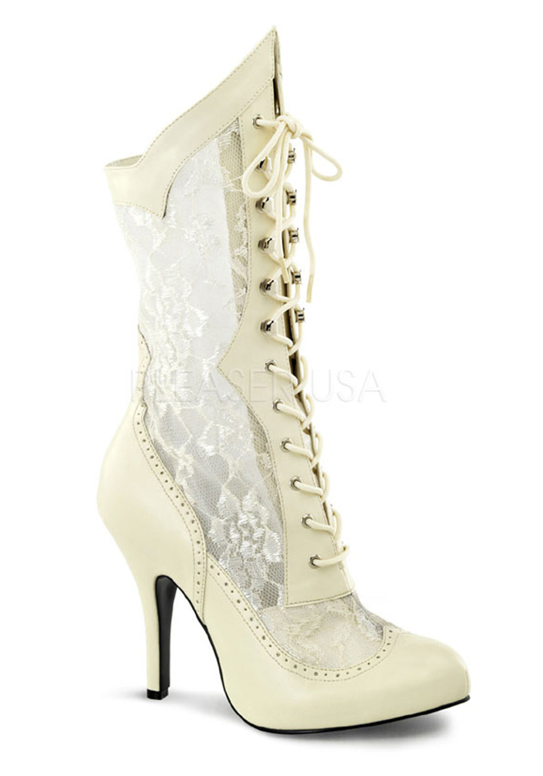 Victorian Bridal Lace Wide Boots