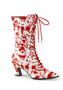 White & Red Bloody Victorian Boots