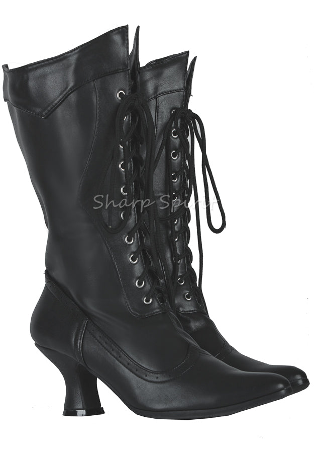 Victorian Lizzy Witchy Pointy Toe Boots