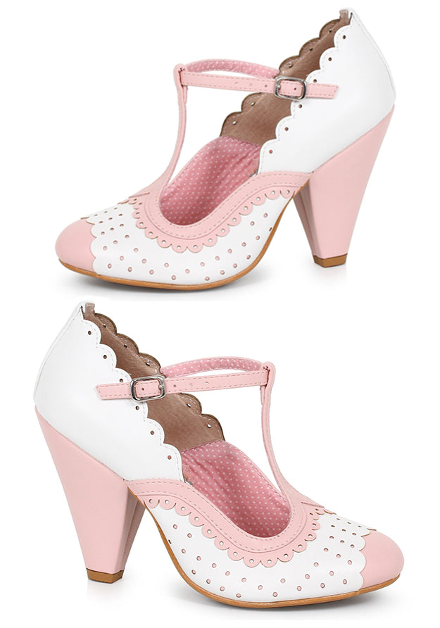 Baby Pink 1950s Swing Pin Up Heels