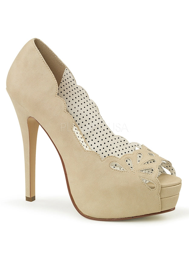 Vintage Style Pump Heels w Cut-Out Detail