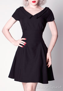 Vintage Style Secretary Collared Dress