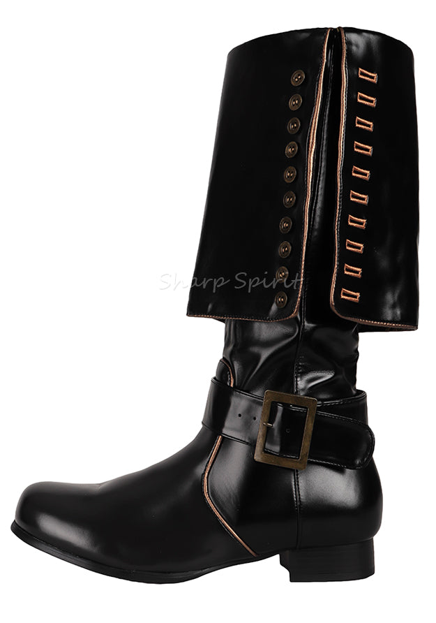 Western Steampunk Pirate Superhero Mens Boots