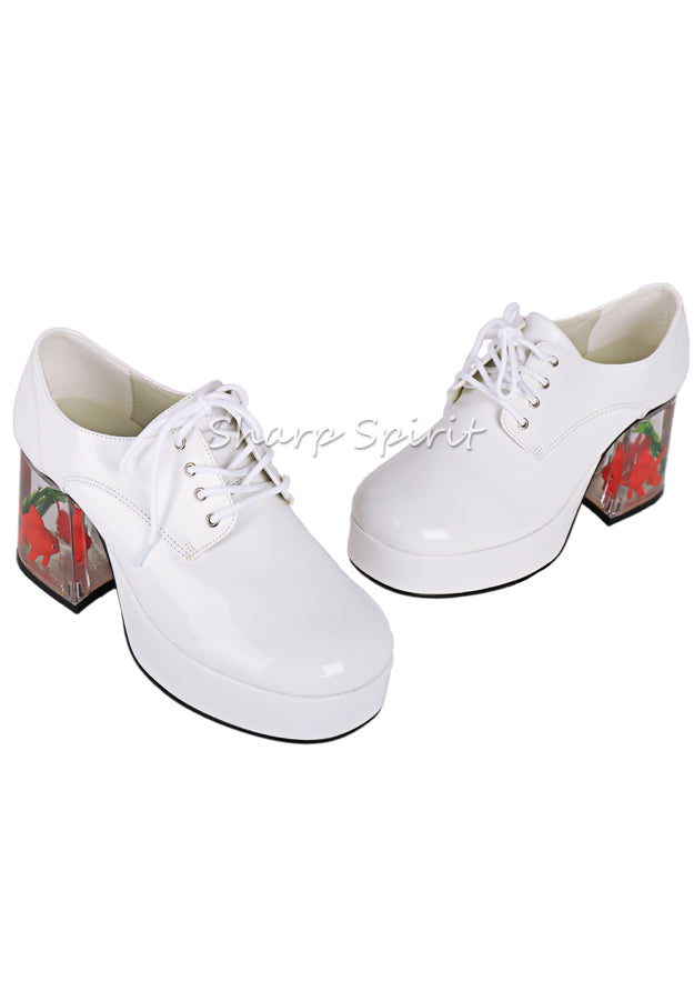 White Floating Fish Disco Shoes