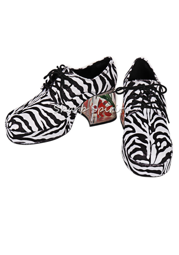 Zebra Print Fish Disco Shoes