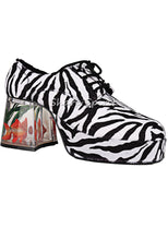 Load image into Gallery viewer, Zebra Print Fish Disco Shoes