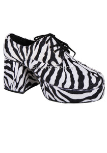 Zebra Print Retro Platform Shoes
