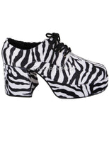 Load image into Gallery viewer, Faux Zebra Fur Print Disco Platform Shoes