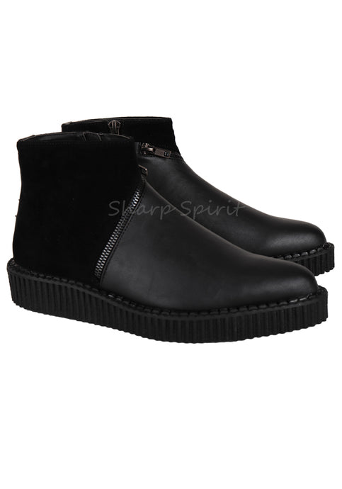 Zipper Ankle High Creeper Boots