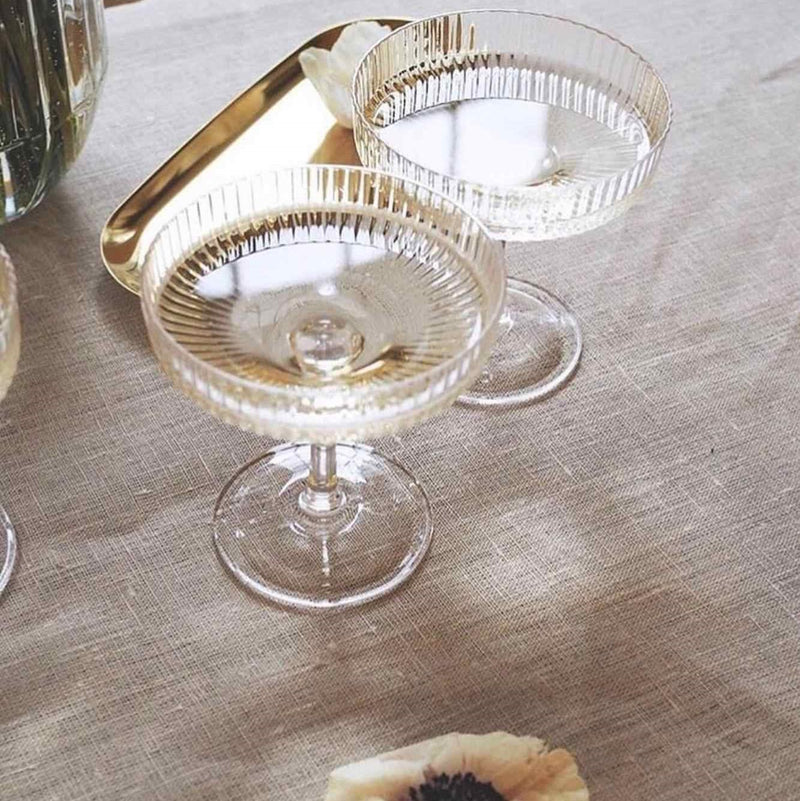 Chic Retro Champagne Glasses