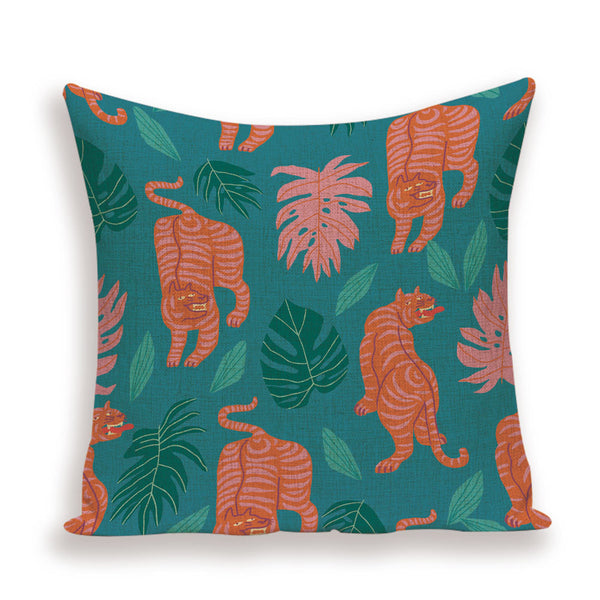 Colorful Tiger Cushion Covers