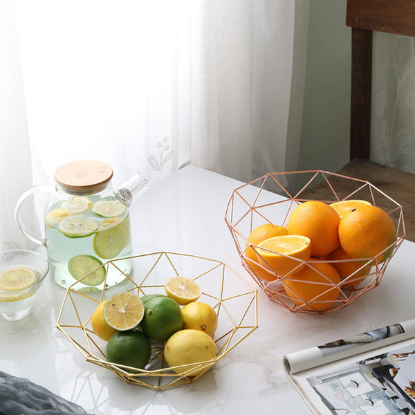 Chic Gold Wire Fruit Bowl - MAHOGANY STREET