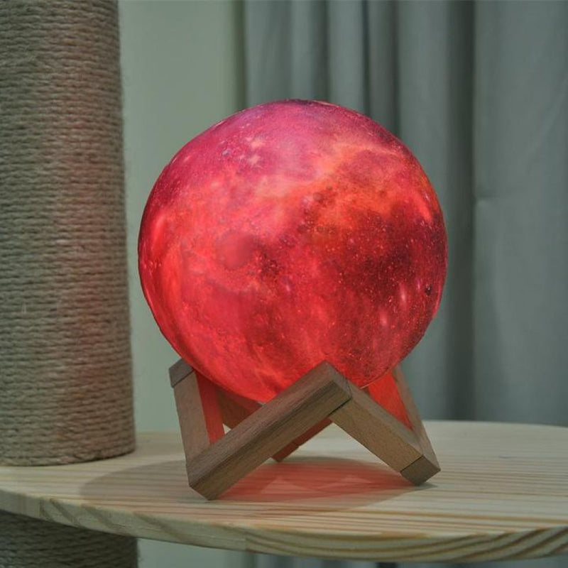 Glowing Moonlight 3D Print Lamp (Glows In different colors) - MAHOGANY STREET
