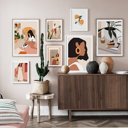 Abstract Fashion Vintage Girls Canvas Prints - MAHOGANY STREET