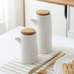 Ceramic Oil Bottle With Cork Lid