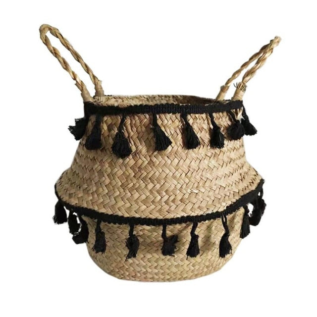Seagrass Storage Basket With Tassle - MAHOGANY STREET