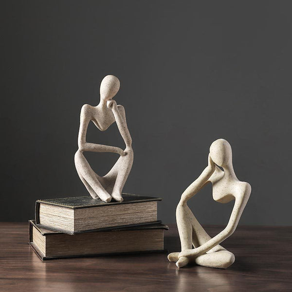 Minimalist Design Resin Thinker Statue