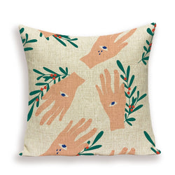 Eye Decorated Linen Cushion Covers