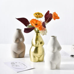 Resin Body Shaped Vases