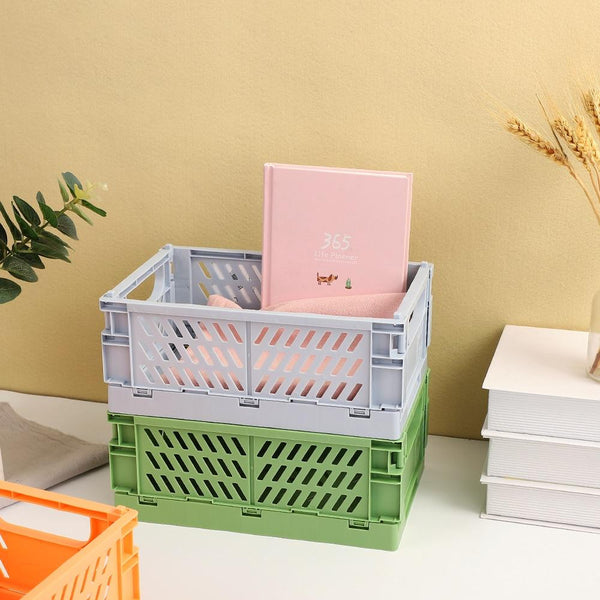 Collapsible Pastel Colored Plastic Crates