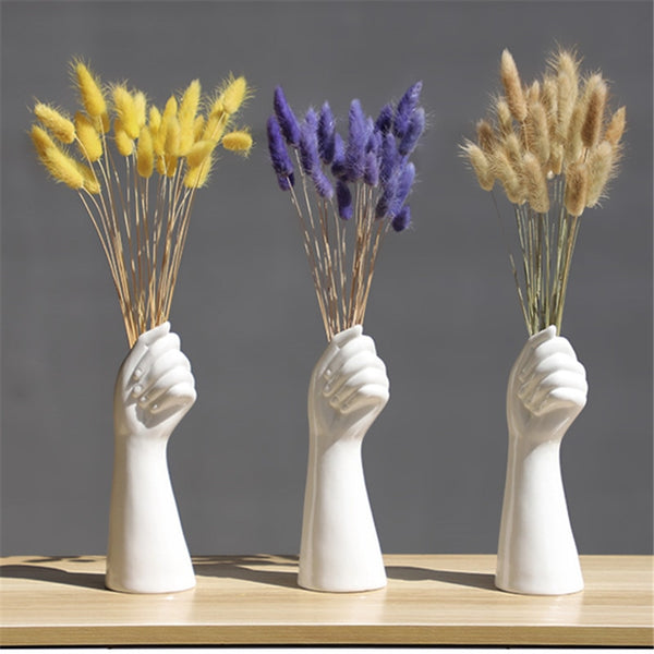 Hand Shaped Decorative Vase