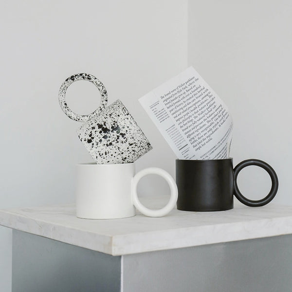 Modern Design Oversized Handle Mugs