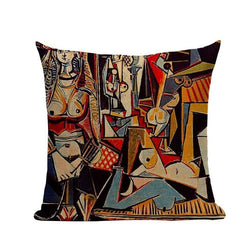 Multicolor Art Cushion Cover - MAHOGANY STREET