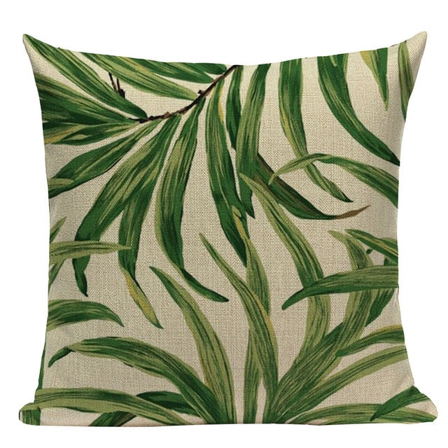 Tropical Style Linen Cushion Covers - MAHOGANY STREET