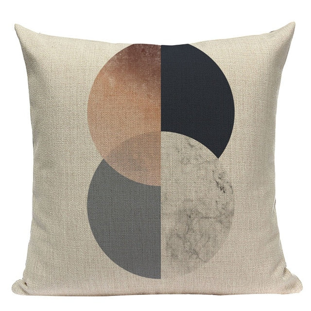 Luxe Linen Cushion Covers With Gold Accents - MAHOGANY STREET