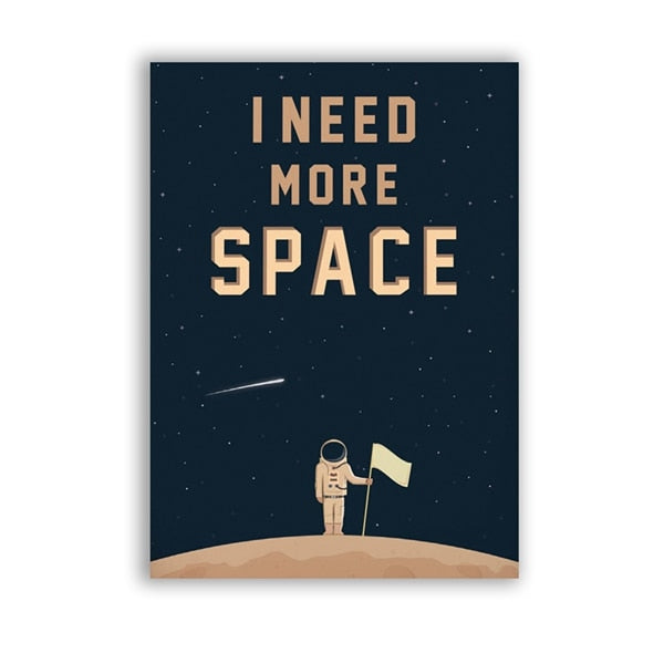 Space Wall Art Canvas Print - MAHOGANY STREET