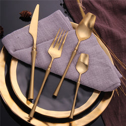 Chic Stainless Steel Tableware Set - MAHOGANY STREET