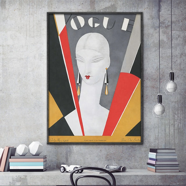 Vintage Vogue Cover Canvas Prints