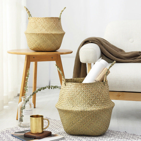 Multifunctional Woven Seagrass Basket - MAHOGANY STREET