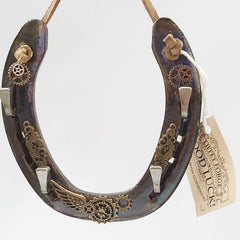 Steampunk Good Luck Horseshoe Gift, By Liffey Forge - Parade Handmade
