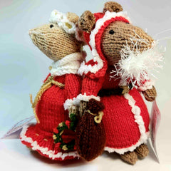 Mr and Mrs Claus Chrismas Mice by Ditsy Designs - Parade Handmade
