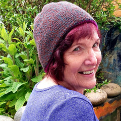 Cute Brown Hand Knit Beanie Hat with coloured flecks by Shoreline - Parade Handmade