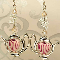 Mad About Tea one of a kind Dreamy Delight Earrings from Lapanda Designs - Parade Handmade