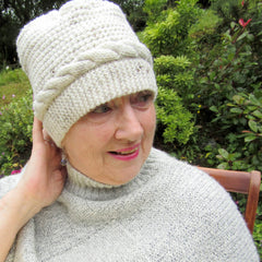 Cream Cable Handmade Knitted Hats by Shoreline - Parade Handmade