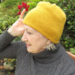 Mustard Coloured Homemade Knitted Hat By Shoreline - Parade Handmade