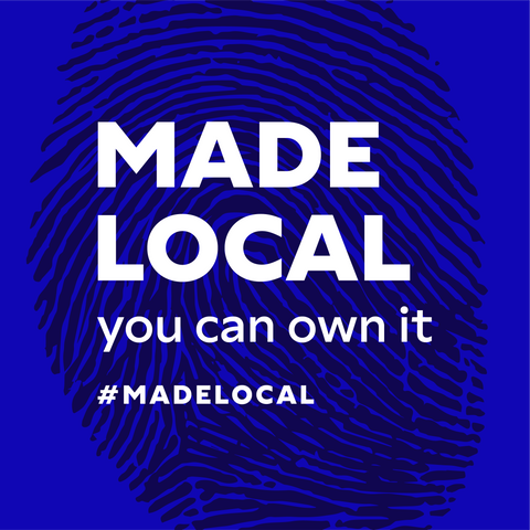 #MADELOCAL Blue Tag. 'You Can Own It'.