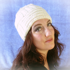 Cream Cable Handmade Knitted Hat By Jo's Knits - Parade Handmade