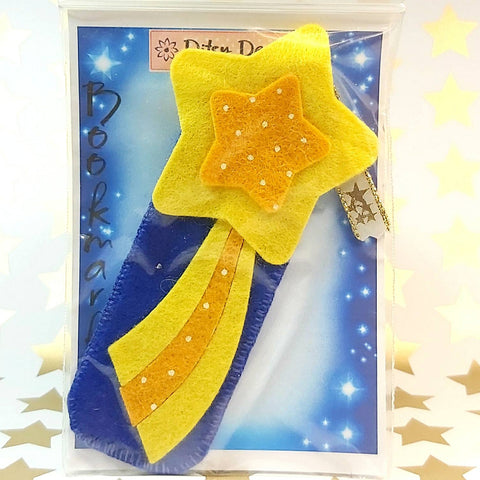 Bookmark, Bright Shooting Star, Blue Sky, By Ditsy Designs,