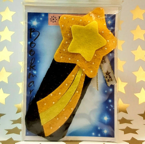 Bookmark, Shooting Star, Black Sky, By Ditsy Designs. Parade-Handmade