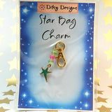 Bag Charm, Green Star, By Ditsy Designs. Parade-Handmade