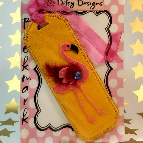 Bookmark, Pink Flamingo, By Ditsy Designs,