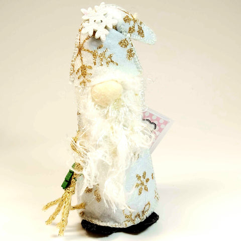 Christmas Gnome, White, By Ditsy Designs. Parade-Handmade