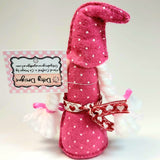 Christmas Gnome, Pink, By Ditsy Designs. Parade-Handmade
