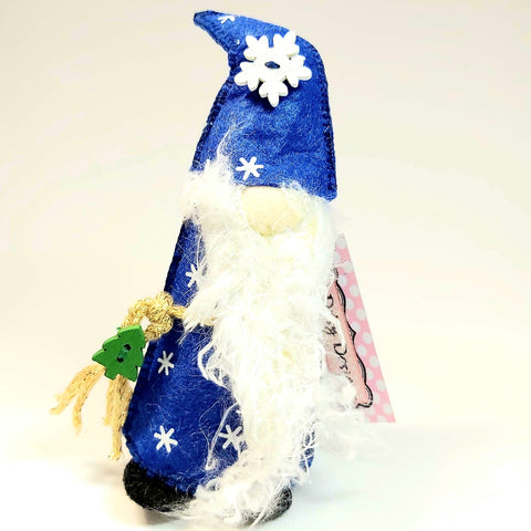 Christmas Gnome, Blue, By Ditsy Designs. Parade-Handmade